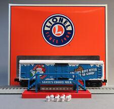 LIONEL SANTA'S CHOICE MILK CAR, PLATFORM, & MILK CANS O GAUGE train 6-84378 NEW