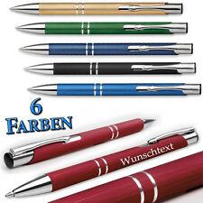 1 Metall Kugelschreiber gebürsteter Oberfläche mit Wunschgravur