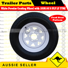 185R14LT 14 inch Wheel Rim & Tyre Package Ford Studs Boat Box Trailer Caravan