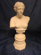 RARE 19th Century Antique Parian Ware Bust Sculpture VENUS DE MILO 13""