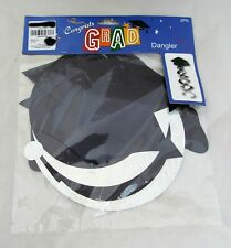 Black Graduation Cap Hat Congrats Grad Party Supplies Hanging Dangler 2 Pack Set
