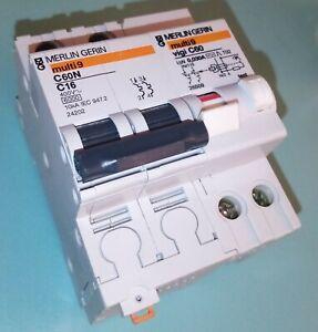 Merlin Gerin Disjoncteur Différentiel Multi9 C60N C16 16A 24202 VIGI C60 26509
