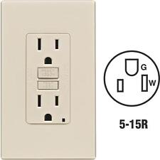 3-Leviton Self-Test 15A Almond 5-15R Gfci Screwless Cover Outlet C36-Gfnt1-0Pt