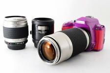Pentax K-r 12.4MP 28-80/100-300/50mm Lente Rosa/Viola [ EXC W/8GB SD Card [