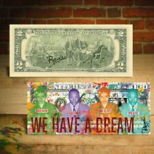 ROSA PARKS / MLK JR - WE HAVE A DREAM Mug Shots $2 Bill HAND-SIGNED by Rency
