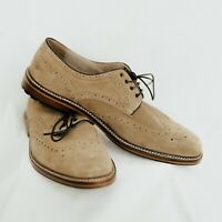 Joseph Abboud Oxford Wingtip Suede Dress Shoes Size 11 Tan