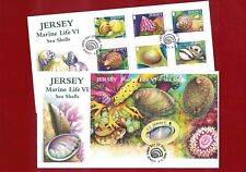 2006 Jersey Sea Shells FDC SG 1264/1270 MS + Set