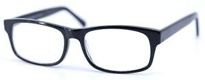 B.M.E.C. BIG KAHUNA Black Rectangular Mens Full Rim Eyeglasses Frames 55-17-145