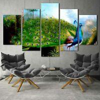 Rocky Beach Romantic Seagull 5 pcs HD Art Poster Wall Home Decor Canvas Print