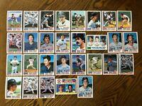 1982 BOSTON RED SOX Topps COMPLETE MLB Team Set 29 Cards YASTRZEMSKI RICE PEREZ!