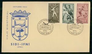 Mayfairstamps SIDI IFNI FDC 1962 COVER OLYMPIC GAMES COMBO wwi97323