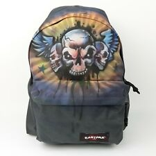 Airbrushed Skulls & Wings Eastpak Padded Pak'r Backpack Bookbag Gray Skater