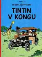Tintin au Congo Hergé album Tchèque Original CZECH langue étrangère Edition