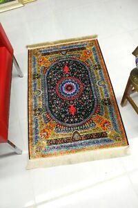 Traditional Oriental Design Silky Look Carpet 28''x43'' Area Rug in Vivid Colors
