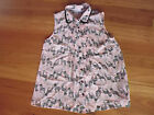 LADIES CUTE PINK SHEER HORSE POLYESTER SLEEVELESS TOP BY HOT OPTIONS SIZE 10