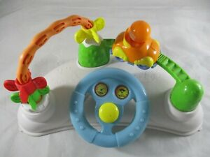 Toddlers Interactive Steering Wheel sits on the floor or table.