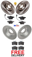 FOR AUDI A4 1.9 TDI B6 (2001-2004) 2 FRONT & 2 REAR BRAKE DISCS & PADS SET *NEW*