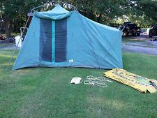 Vintage Mid Century WENZEL SIDE ROOM Umbrella Canvas Tent No RR110 NICE!!!