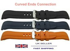 Silicone Rubber Curved Ends Sporty Watch Strap With 22mm LUG