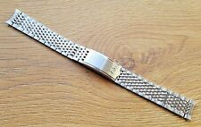 NEW 18MM OMEGA BEAD OF RICE SOLID STAINLESS STEEL WATCH GENTS STRAP