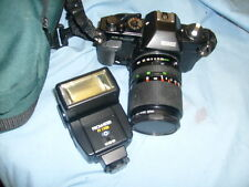 Ricoh KR-5 superII with RKN 70mm lens  + flash + bag package  /a7