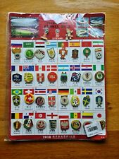 More details for fifa world cup russia 2018 football pin badge set - 34 badges - new and sealed.
