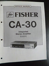 ORIGINAL SERVICE MANUAL Fisher Integrated Stereo Amplifier ca-30