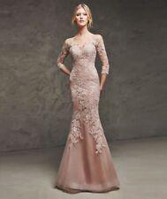 Tulle Lace Regular Size 3/4 Sleeve Wedding Dresses