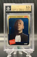 2019 Fleer Michael Jordan Hanes Blue Foil BGS 9.5 GEM MINT = PSA 10 PoP 2
