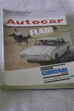 Autocar November Cars, 1960s Transportation Magazines