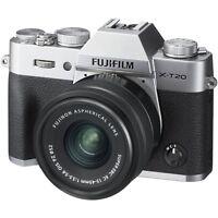 Fuji Fujifilm X-T20 w/XC 15-45mm OIS PZ (Silver) & FREE Sandisk 64GB SDXC *NEW*