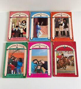 6 x Vintage Saddle Club Books Bulk Lot Bundle By Bonnie Bryant