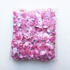 "72 Large mulberry rose paper flower lot wedding card craft scrapbooking 1"" 2"""