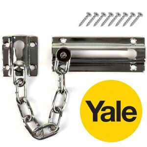 YALE DOOR CHAIN ID CALLER Restrictor Latch Bolt Slide Guard Home Security Lock