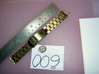 Vintage SEIKO 4620ZI SOLID Stainless Steel Gold tone 18 mm lug Watch BAND V742