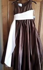 D'zage Bridesmaid Dresses x2 chocolate pink ages 8 and 10. Brand new with tags!