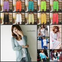 Women Lady Summer Casual Loose Kimono Cardigan Boho Coats Blouse Sunscreen Tops