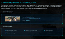 Star Citizen Standalone Ship -  DRAKE BUCCANEER - LTI