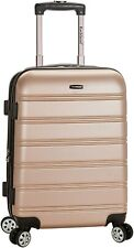 Rockland Melbourne Hardside Expandable Spinner Wheel Luggage, Champagne, Carry