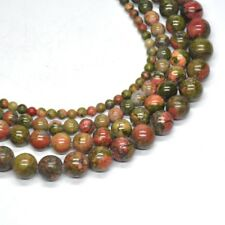 Natural Unakite Crystal Healing Reiki Stone Round Loose Beads 4mm 6mm 8mm 10mm