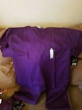 Dickies Xl EDS Unisex Medical Uniform/Scrubs Top - Purple