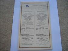 "NORDDEUTSCHER LLOYD BREMEN D.""COLOMBUS"" 25TH JUNE 1927 BREAKFAST MENU"