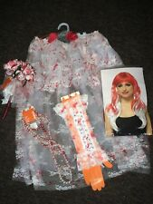 Bloody Zombie Bride Gothic Fancy Dress Hen Party Accessories Free Postage 💐