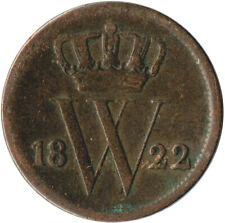 More details for coin / the netherlands / 1 cent 1822  #wt3206
