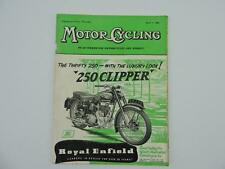 Vintage April 1955 Motorcycling Magazine Royal Enfield 250 Clipper L8155