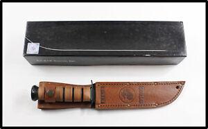KA-BAR OLEAN N.Y. USMC #1217 made in USA straight edge fighting knife NICE LOOK