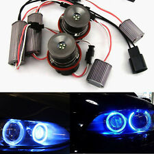 2x 20W Cree LED Blue Angel Eye Halo Ring Light Lamp Bulbs For BMW E60 E63 E53 X5