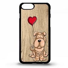 Shar pei cute cartoon love heart dog graphic puppy art phone case cover