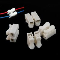 50Pcs Electrical Cable Connectors Quick Splice Lock Wire Terminals Self Locking