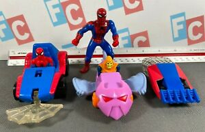 McDonalds Happy Meal Toy Figures Lot 1994 1995 Spider-Man Set Vehicles Cars
